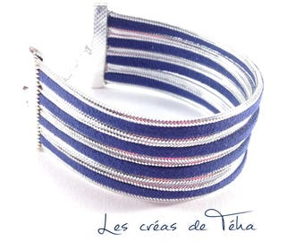 Very nice cuff Navy Blue and silver