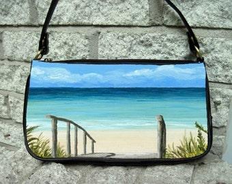 Clutch or Sling Bag Purse Sea View 147 ocean beach art painting L.Dumas