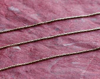 Gold Filled Chain Bulk -  Beading Chain 0.6mm - SAVE 5 - 10% on Bulk Chain Lengths 5 to 12 feet