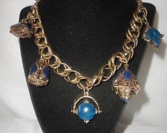 Vintage Brass Chian Bohemian Charm Necklace******.