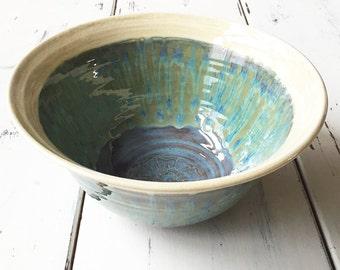 Large Ceramic Serving Bowl, Unique Housewarming Gift, Ceramic Fruit Bowl