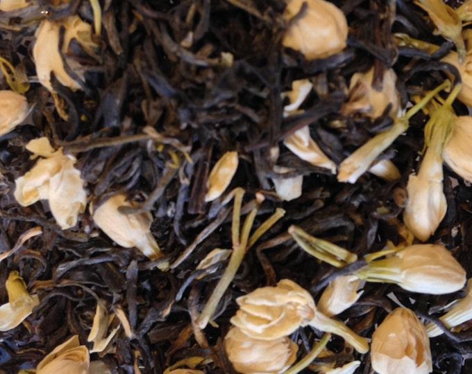Double Jasmine Herbal Loose Tea Jasmine Tea Jasmine flower and white tea leaves