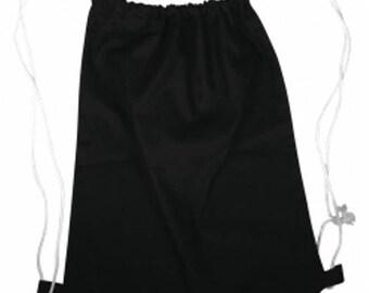 Black gym bag with DrawString