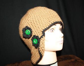 crochet Aviator Cap