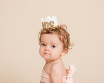 1st Baby Birthday Crown || First Birthday Outfit Girl || First Birthday Crown  || Birthday Crown || Girl Birthday Crown || White Birthday Cr