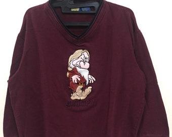 Disney Classic Grump Logo Embroidery Vintage Sweatshirt