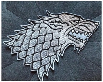 Great Game Of Thrones Stark Wolf badge