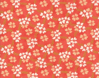 Ella and Ollie - Daisy Rings in Strawberry Red: sku 20302-11 cotton quilting fabric by Fig Tree and Co. for Moda Fabrics