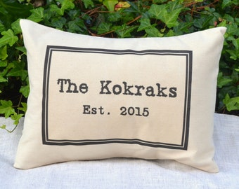 Personalized pillow, couples pillow, valentine gift idea, newlywed pillow mr. & mrs. pillow  Personalized  Anniversary,