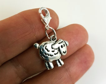 Sheep Charm - Lamb Charm - Counting Sheep Charm - Farm Animals Charm - SCC934