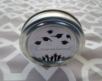 Graduation Candle- Graduation Gift- 4 oz Candle- Scented Soy Candle- Gift for Grads- Handmade Soy Candle