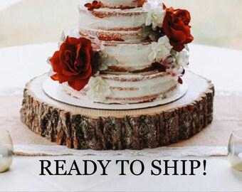 "Wedding cake stand, wood cake stand, rustic cake stand, cake base, cake stand, 14"" cake stand, 16"" cake stand, 18"" cake stand!"
