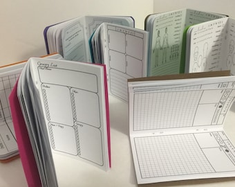 B8 2.5 x 3.5 inserts; health journals, graph, planners and more