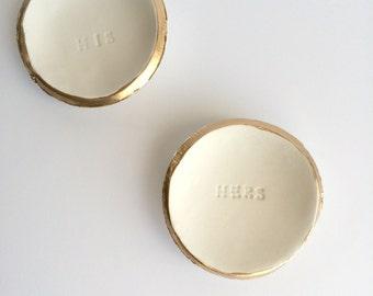 Gold Ring Dish, Silver Ring Dish, Personalized Ring Dish, Wedding Ring Holder, Custom Made to Order