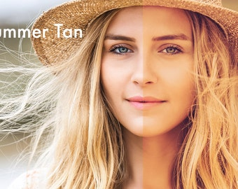 Summer Tan - Photoshop Action INSTANT DOWNLOAD