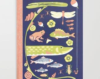Lakelife, Fishing, Blank Notebook Journal