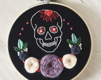 Sugar Skull Gothic Embroidery