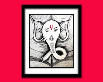 Lord Ganesha Wall painting