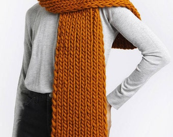 English ribbed chunky scarf