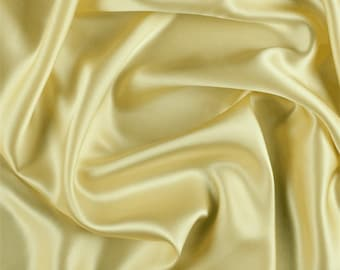 Yellow Silk Charmeuse, Fabric By The Yard