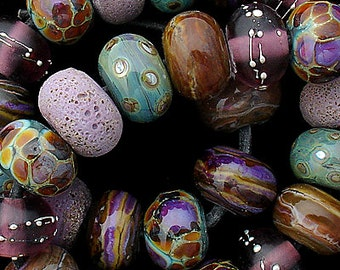 Glass Beads Lampwork Beads Handmade Beads For Jewelry Supplies Beading Purple Beads Round Beads For Necklace Beads Bracelet Debbie Sanders
