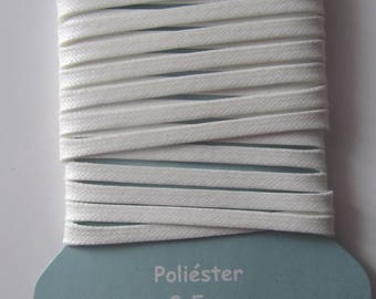 Flat - length 2.5 m - color off-white polyester cord