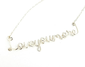 Love You More Necklace Sterling Silver. Love You More Necklace. Love Necklace