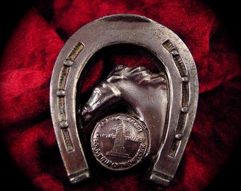 New York Souvenir Horseshoe and Horse and Empire State Bld for GOOD LUCK