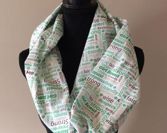 Ladies' Girl Scouts infinity Scarf