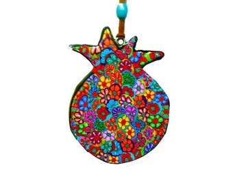 Wall hanging  pomegranate, Jewish art, Jewish symbol, Judaica, Judaica art, pomegranate decor, Pomegranate wall decoration, Pomegranate art