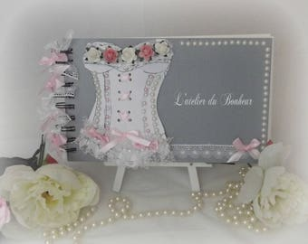 shabby chic corset theme personalized guestbook