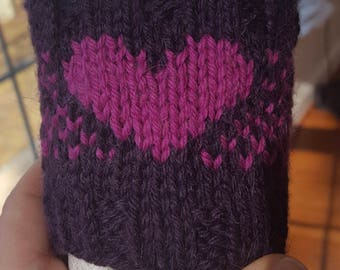 Be Mine Knitted Coffee Sleeve