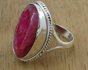 925 sterling silver jewelry latest designer hydro ruby gemstone ring size 10 R-13823