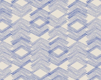 morning walk leah duncan / art gallery fabrics / limestone feel indigo / fabric by the yard / modern blue fabric / quilting cotton