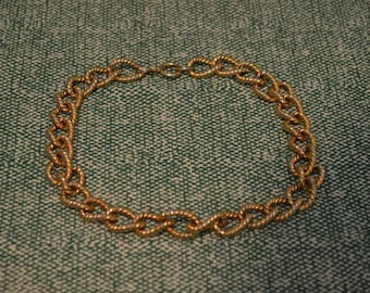 Gold Tone Chain Necklace
