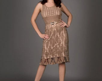 Mocca exclusive crochet dress - the finished product in a single original
