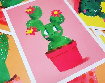 Bloomin' Lovely - A5 Prickly Pear Cactus print