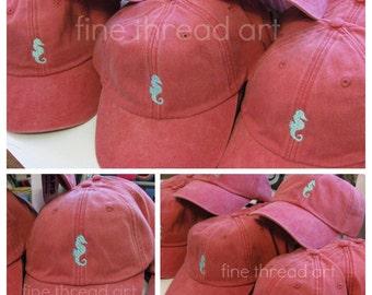 LADIES Mini Design Baseball Cap Hat Leather Strap Anchor Fleur de Lis Lobster Crab Sea Horse