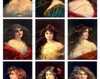 Vintage Beauty Collage Sheet 1