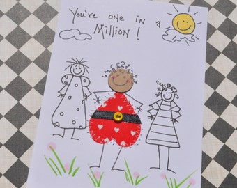 African American Greeting Card -You're One In A Million
