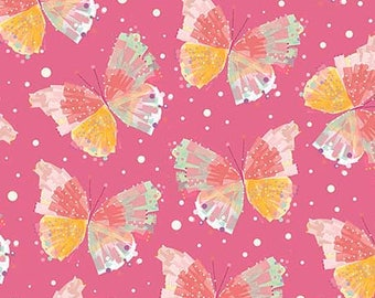 Confetti Blossoms Butterflies - Pink 26235-P by Quilting Treasures Cotton Fabric Yardage