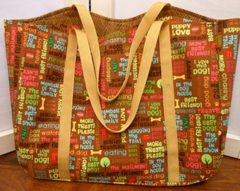 Tote Doggie Words Browns Medium Tote