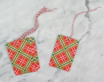 Christmas Gift Tags, Gift Tags, Tartan Gift Tags, Swing Tags.