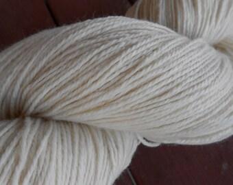 Polwarth Wool/Silk Sport Weight 3-Ply Yarn Undyed Natural Ecru