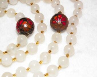 Vintage Cloisonne Bead Necklace