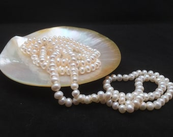 Long Pearl Necklace, Genuine Pearl Necklace, 60 Inches, AA Pearl Necklace, Opera Pearl Necklace, Pearl Necklace