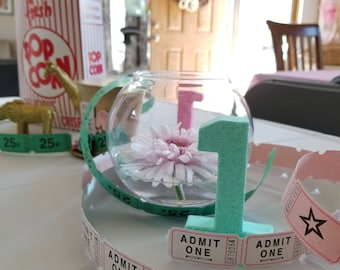 Mini Mint Green Glitter Numbers - Small Number 1 - First Birthday - Party Decor - Princess Party - Golden Birthday - Birthday Party Decor