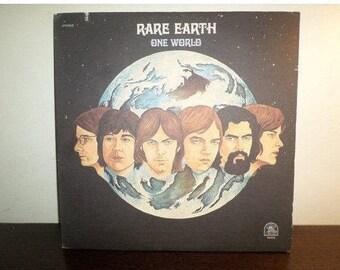 Vintage 1971 Vinyl LP Record Rare Earth One World Near Mint Condition 7984