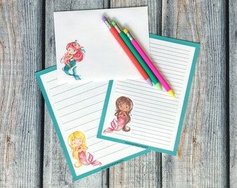 Stationery Set - let's be mermaids - letter writing