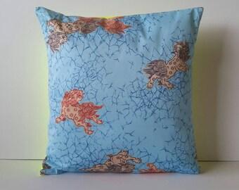 """Ula Ula Hawaiian pillow cover 18""""x18"""", muumuu print, hand-sewn in Hawaii"""